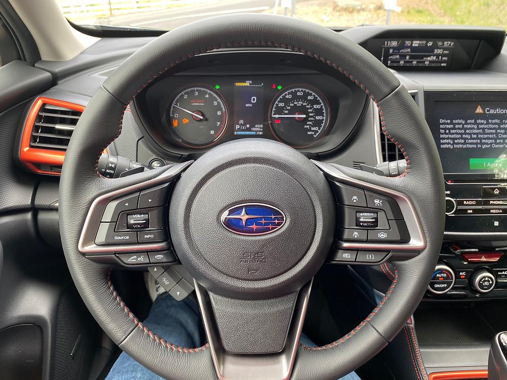 2021 Subaru Forester Sport steering wheel and gauge cluster