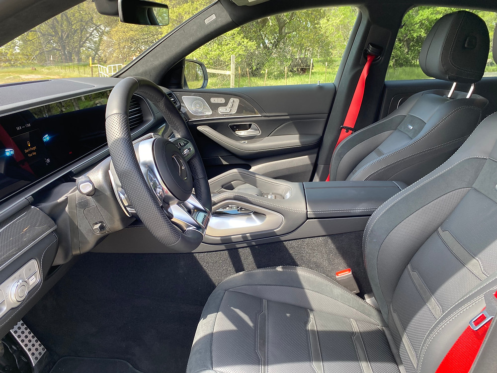 2021 Mercedes-AMG GLE 63 S Coupe front seats
