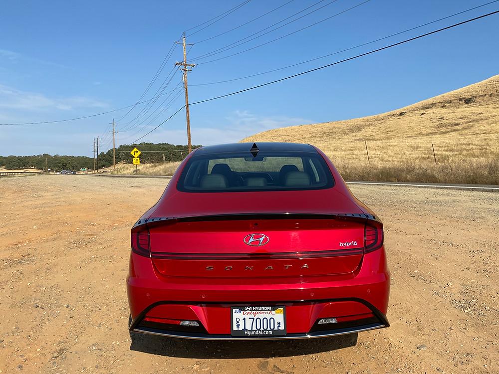 2020 Hyundai Sonata Hybrid Limited rear view