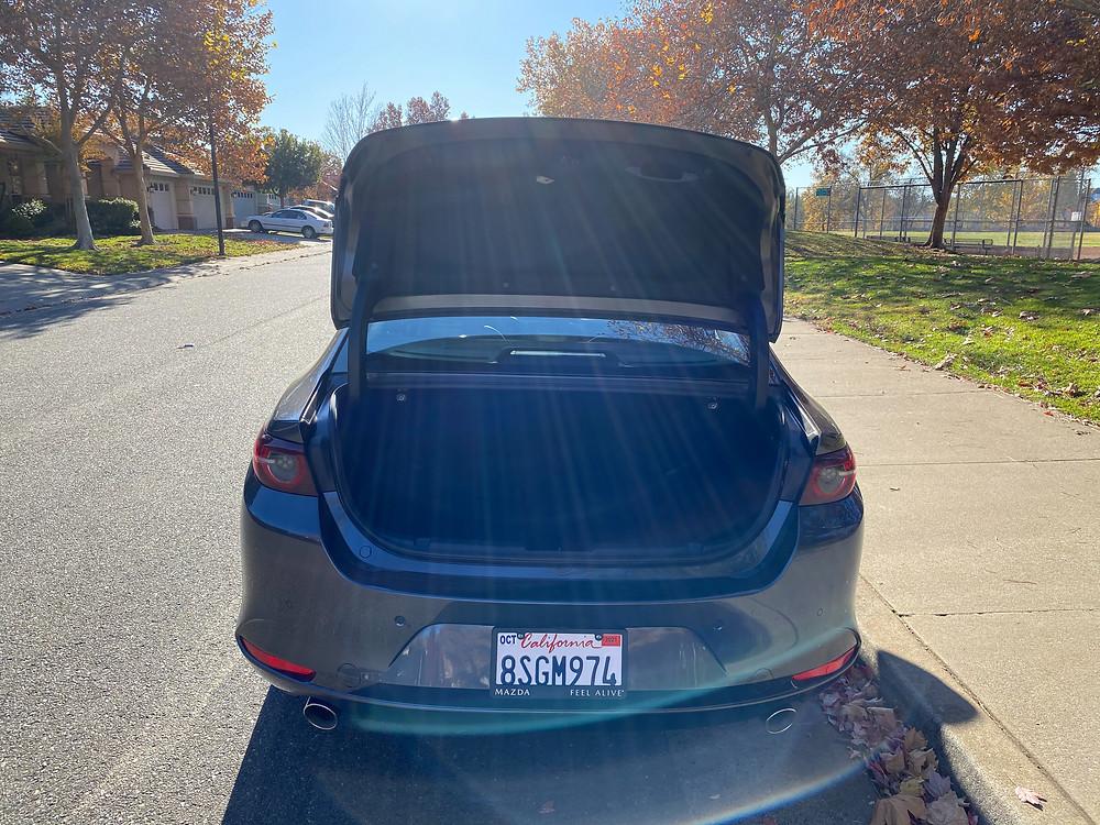 2021 Mazda 3 2.5 Turbo AWD trunk open