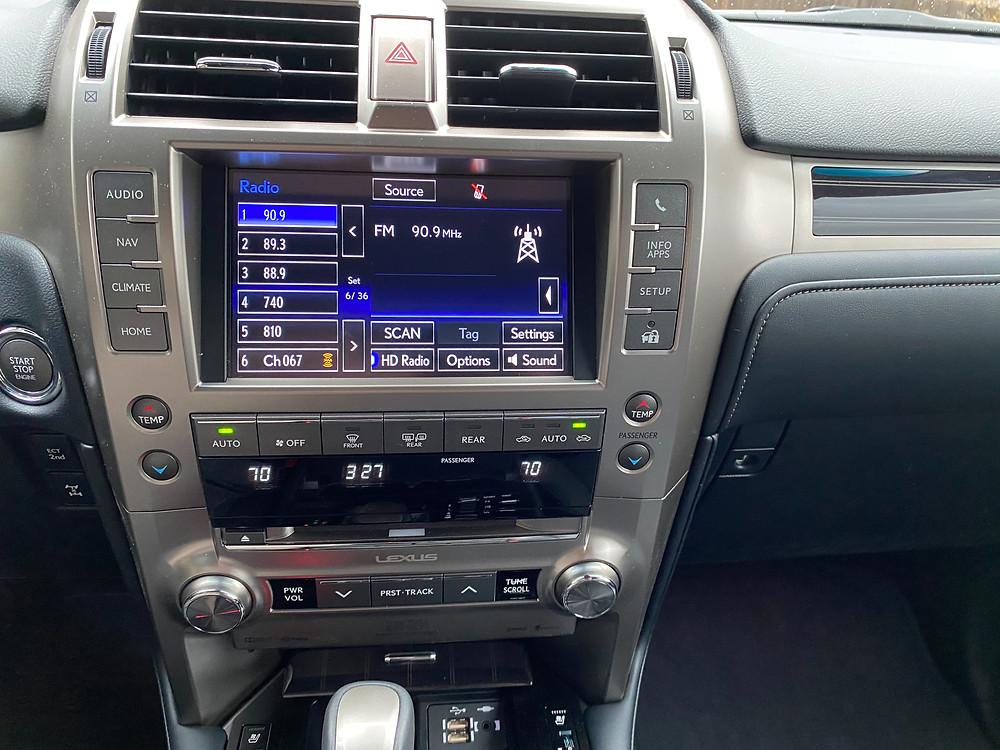 2021 Lexus GX460 infotainment and HVAC