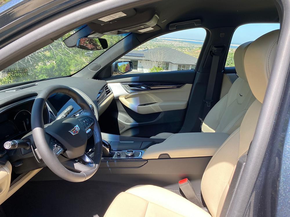 2021 Cadillac CT5 Premium Luxury front seats
