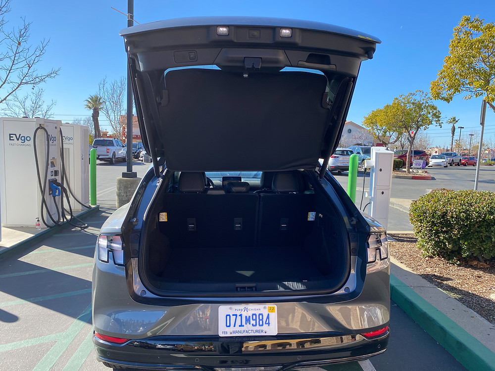 2021 Ford Mustang Mach-E rear liftgate open