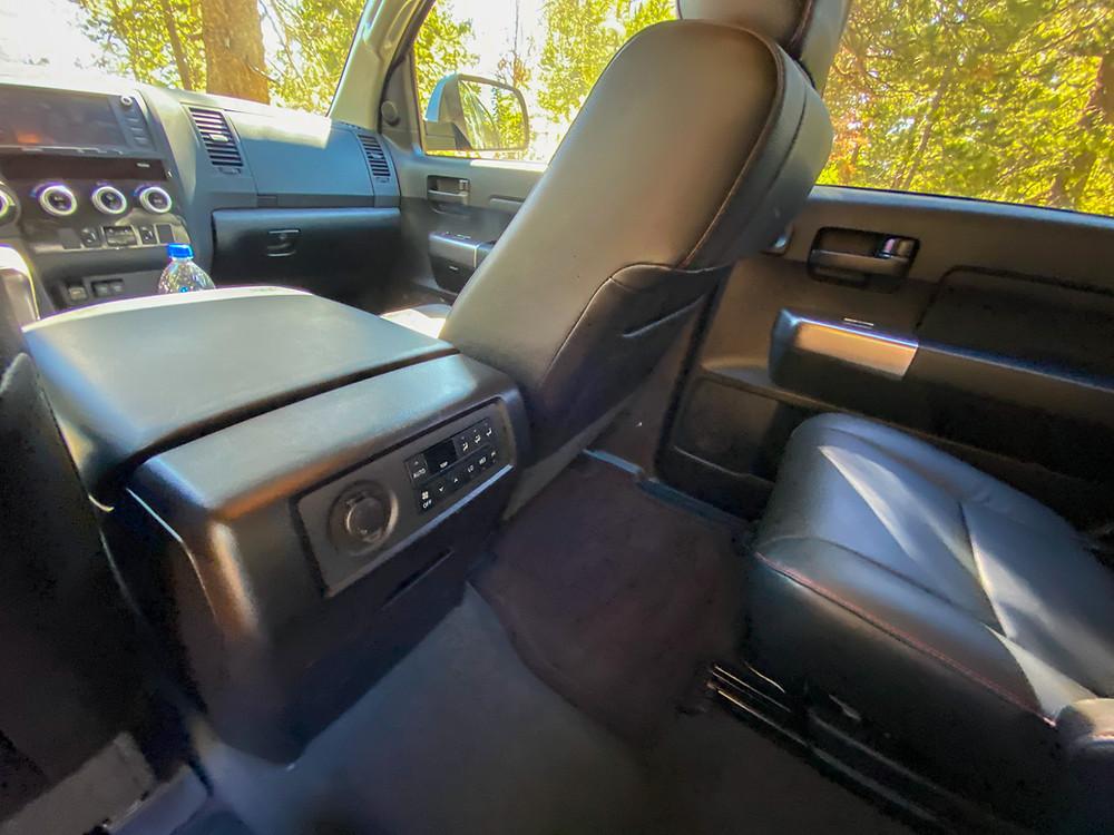 2020 Toyota Sequoia TRD PRO rear HVAC