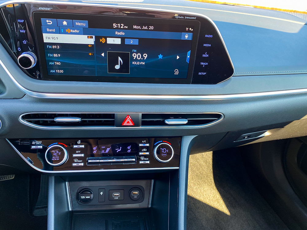 2020 Hyundai Sonata Hybrid Limited infotainment and HVAC