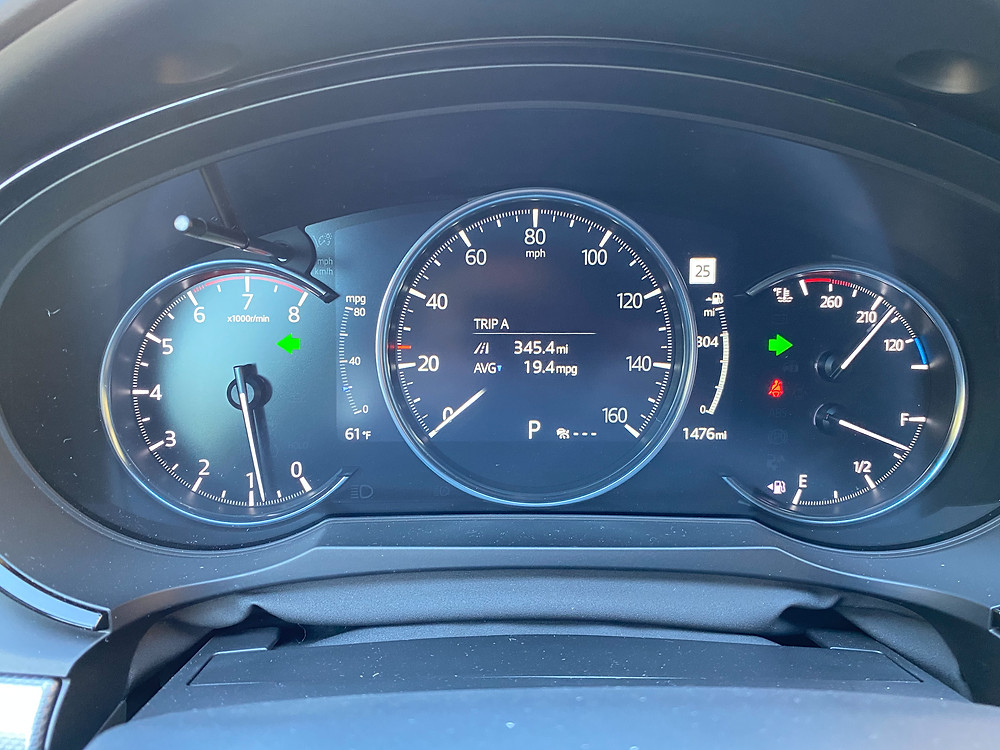 2021 Mazda CX-9 Signature AWD gauge cluster