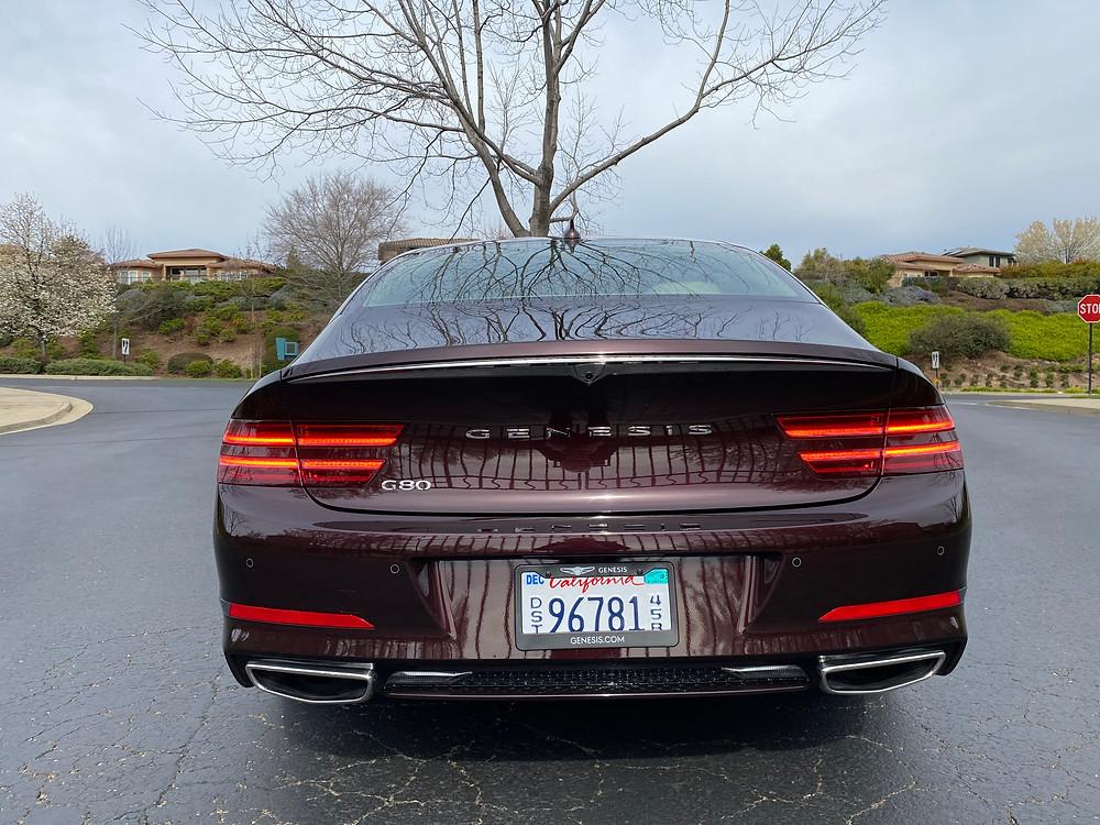 2021 Genesis G80 2.5T Standard rear view