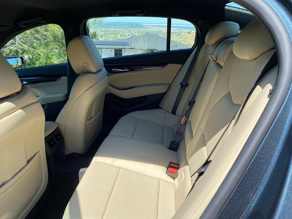 2021 Cadillac CT5 Premium Luxury rear seat