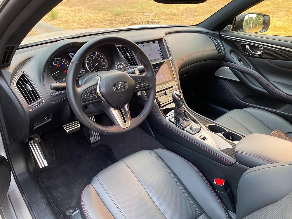 2020 Infiniti Q60 Red Sport 400 AWD instrument panel