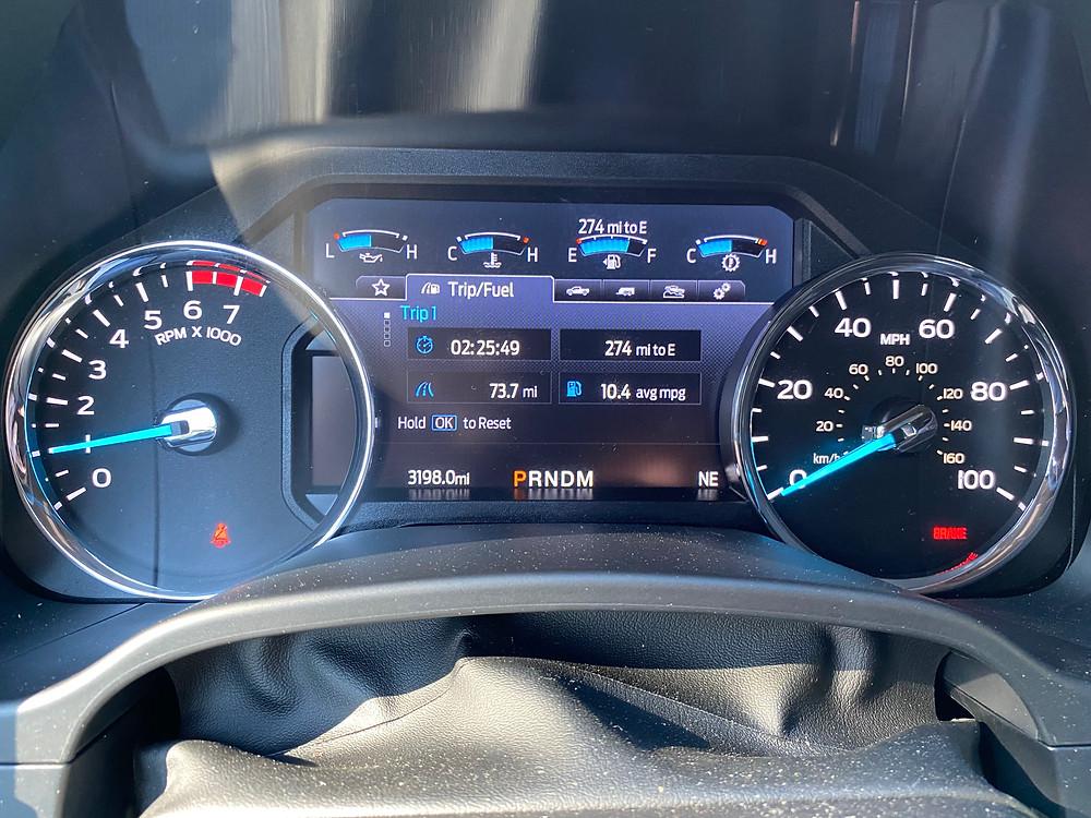 2021 Ford F-250 Tremor gauge cluster