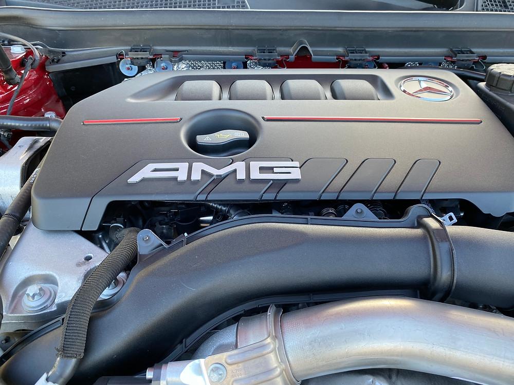 2021 Mercedes-AMG A35 4MATIC engine detail