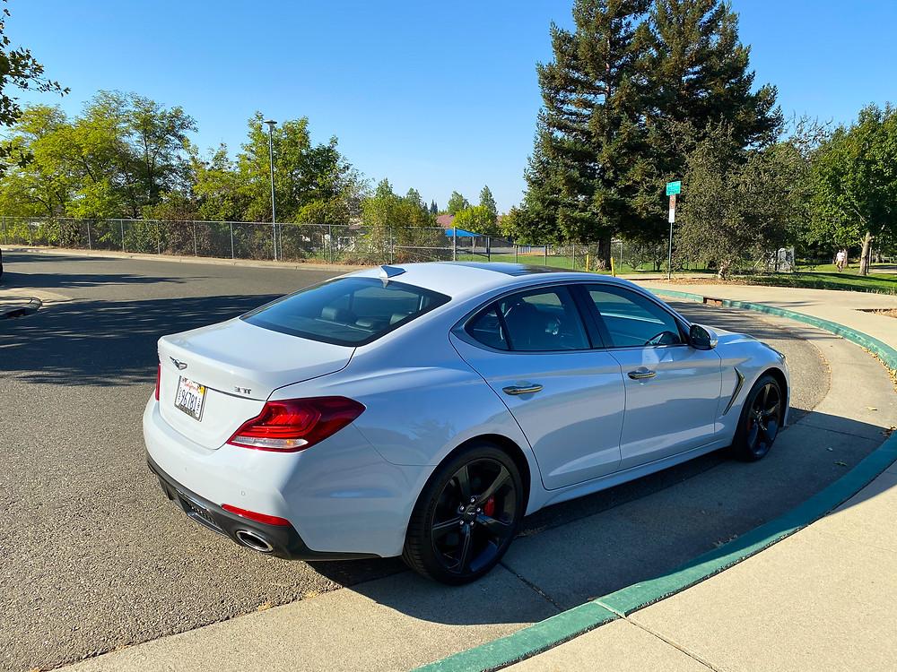 2020 Genesis G70 3.3T Sport rear 3/4 view