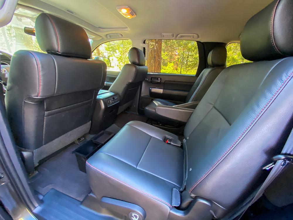 2020 Toyota Sequoia TRD PRO rear seats