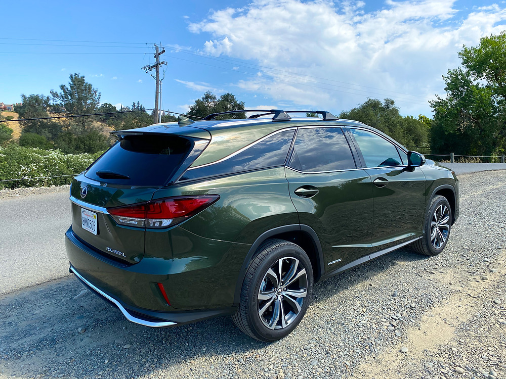 2020 Lexus RX 450hL AWD rear 3/4 view