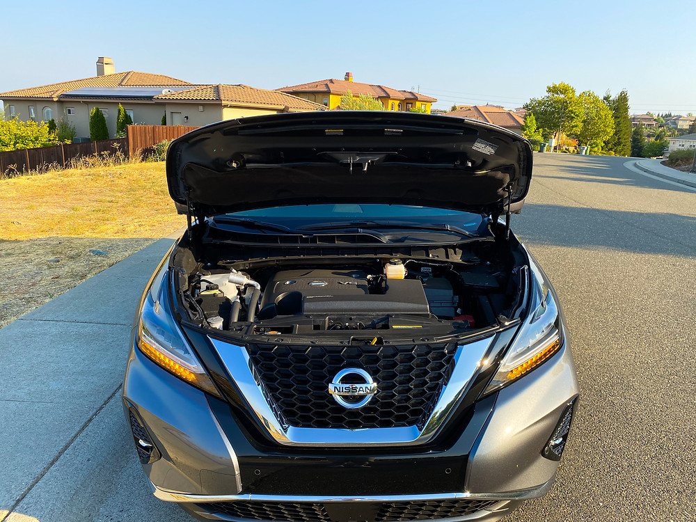 2020 Nissan Murano Platinum FWD hood up