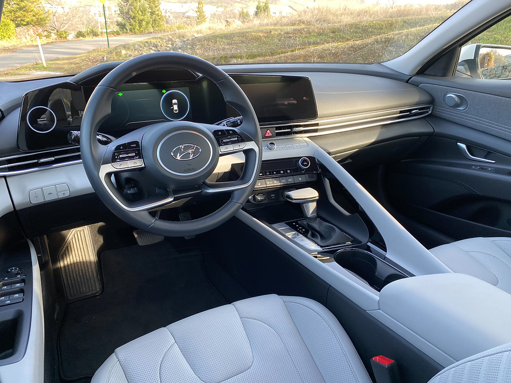 2021 Hyundai Elantra Limited instrument panel