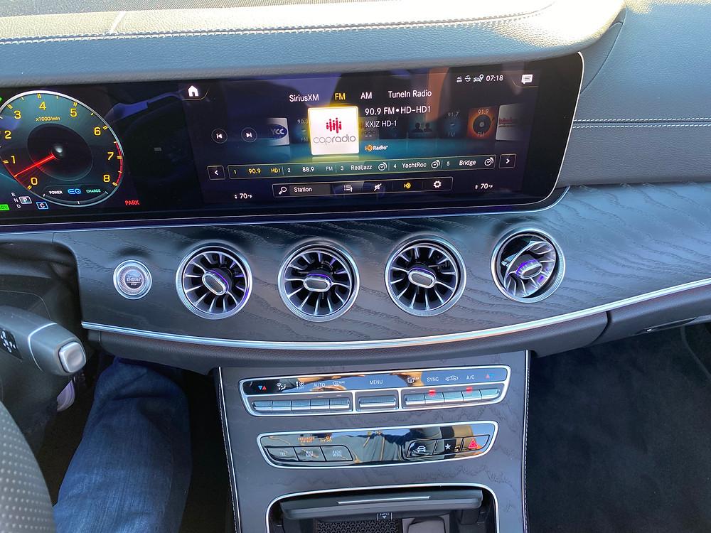 2021 Mercedes-AMG E53 Cabriolet infotainment and HVAC