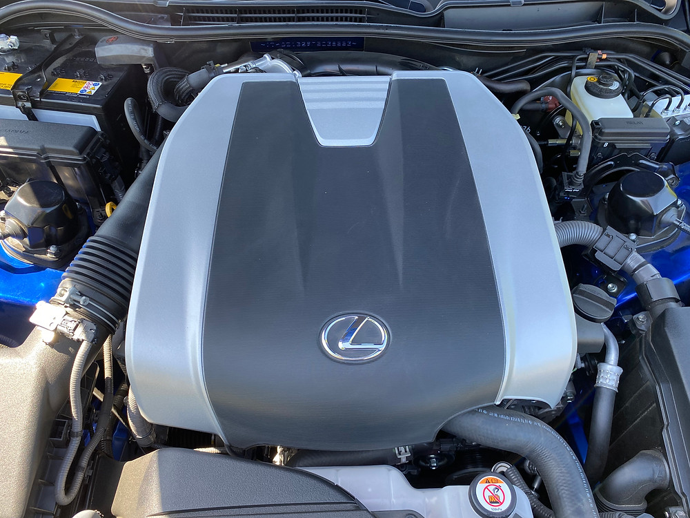 2021 Lexus IS 350 F SPORT engine detail