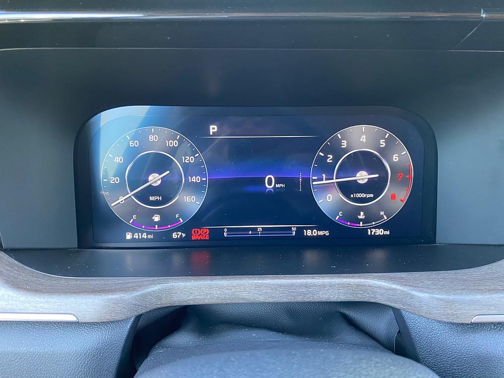 2021 Kia Sorento X-Line AWD gauge cluster