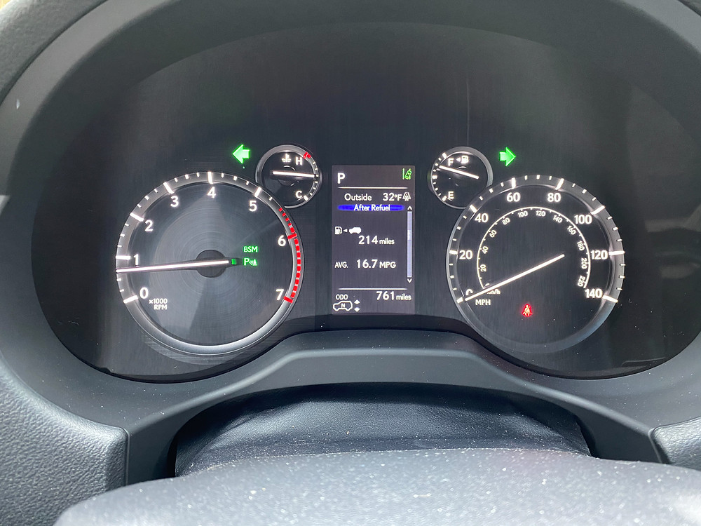 2021 Lexus GX460 gauge cluster