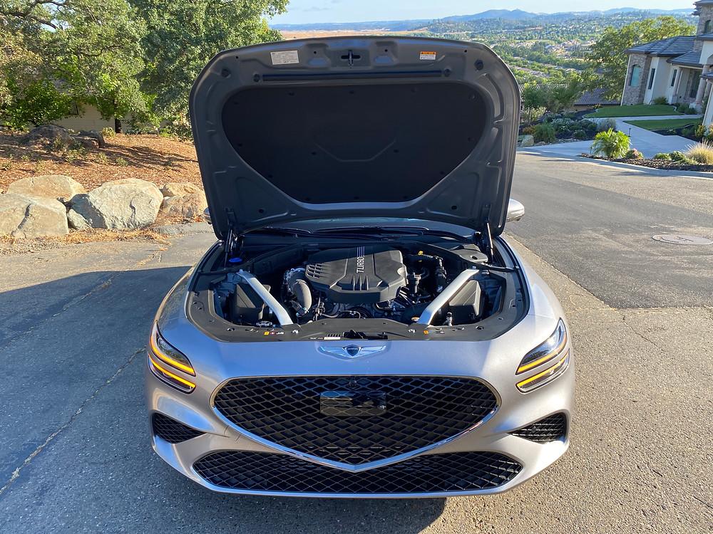 2022 Genesis G70 RWD 3.3T Sport Prestige hood up