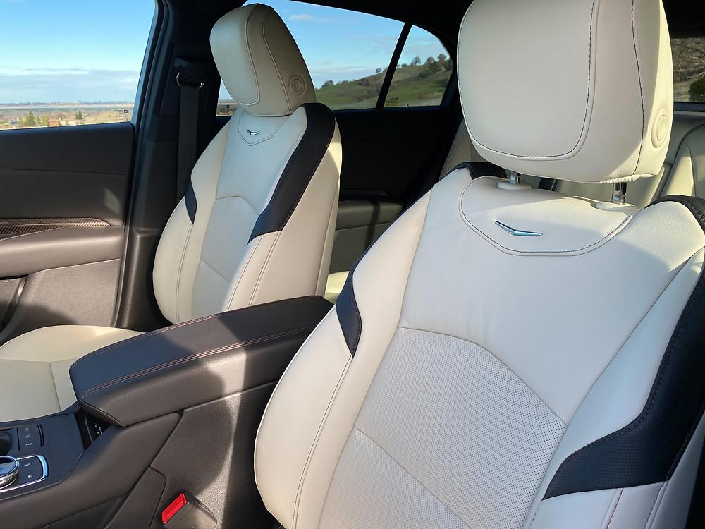 2021 Cadilac XT4 front seat detail