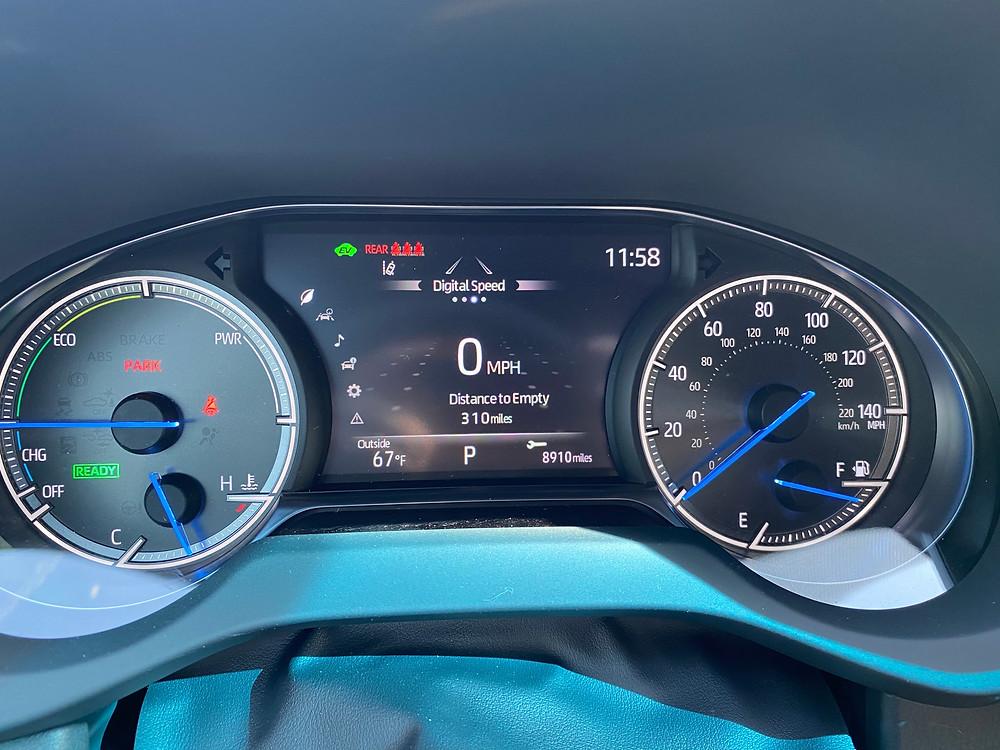 2021 Toyota Venza Limited gauge cluster