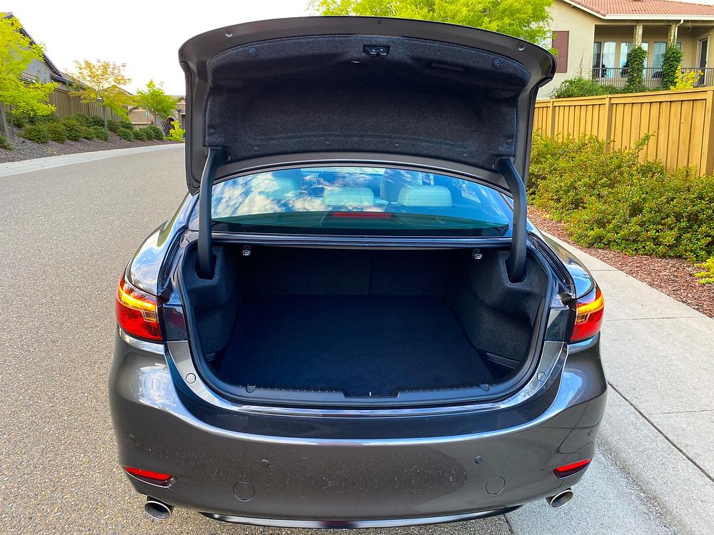 2020 Mazda 6 Signature trunk open