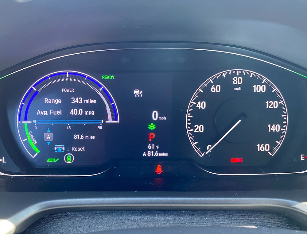 2021 Honda Accord Hybrid Touring gauge cluster