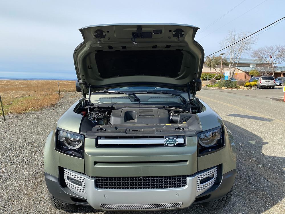 2020 Land Rover Defender 110 SE hood up