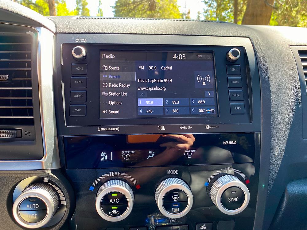 2020 Toyota Sequoia TRD PRO infotainment and HVAC