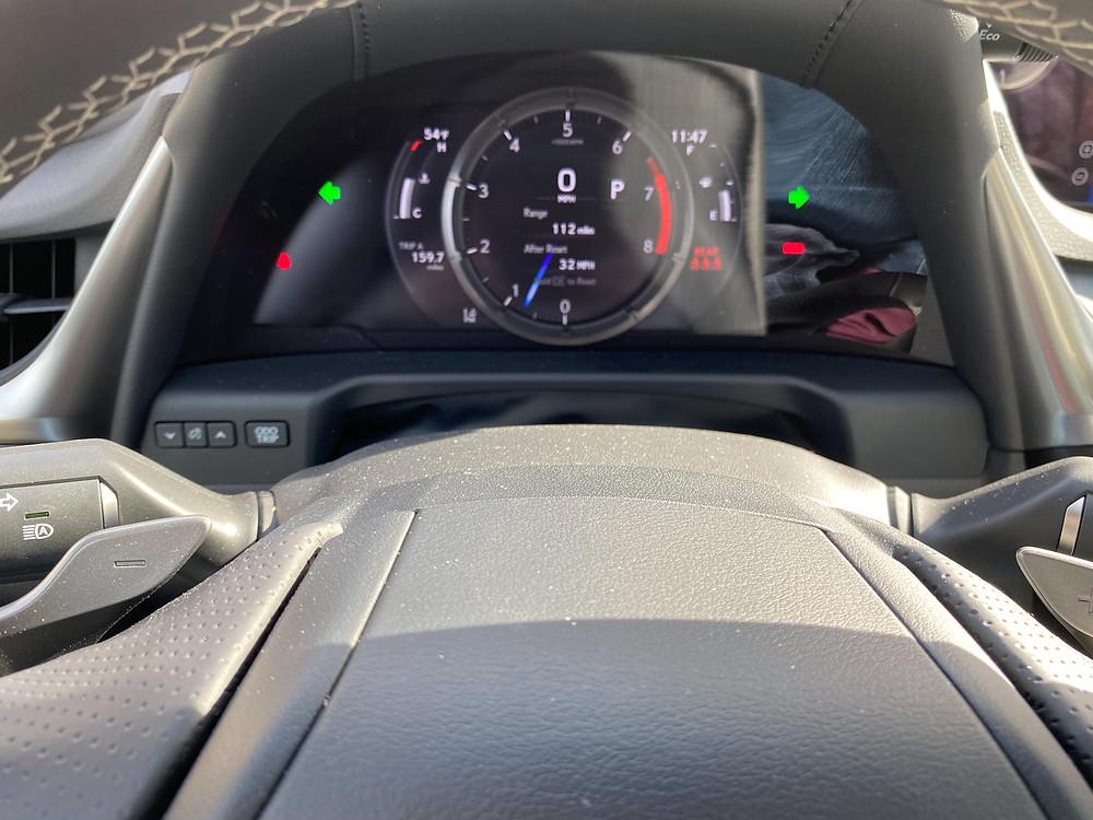 2021 Lexus ES350 F SPORT gauge cluster
