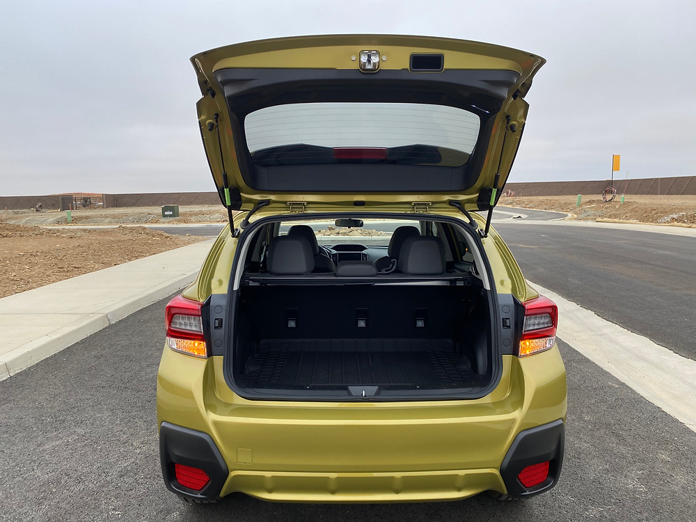 2021 Subaru Crosstrek Sport hatch open