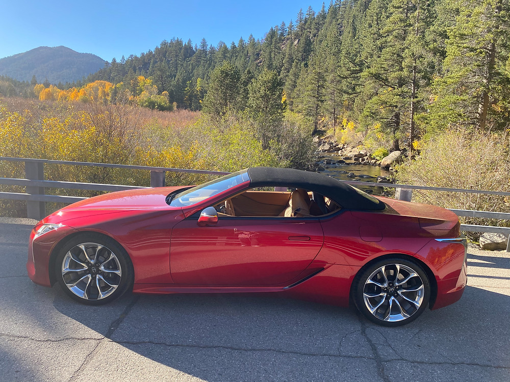 2021 Lexus LC 500 Convertible top up side view