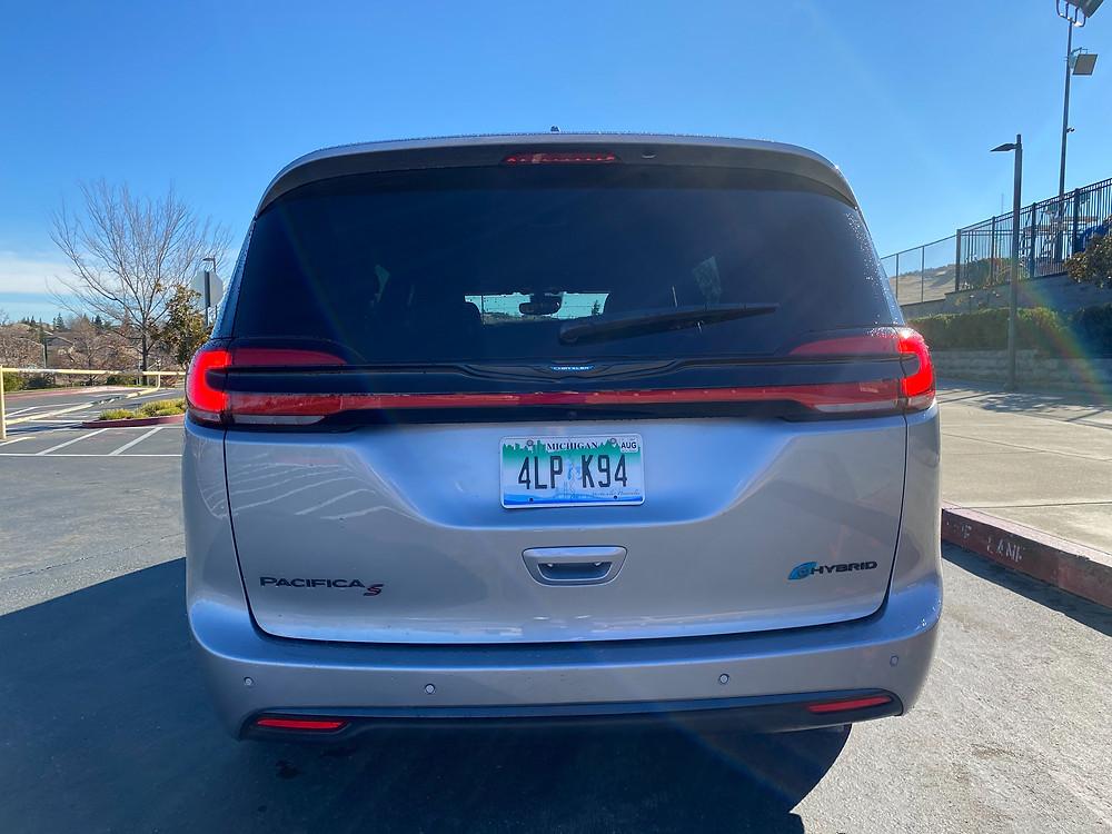 2021 Chrysler Pacifica Hybrid minivan rear view