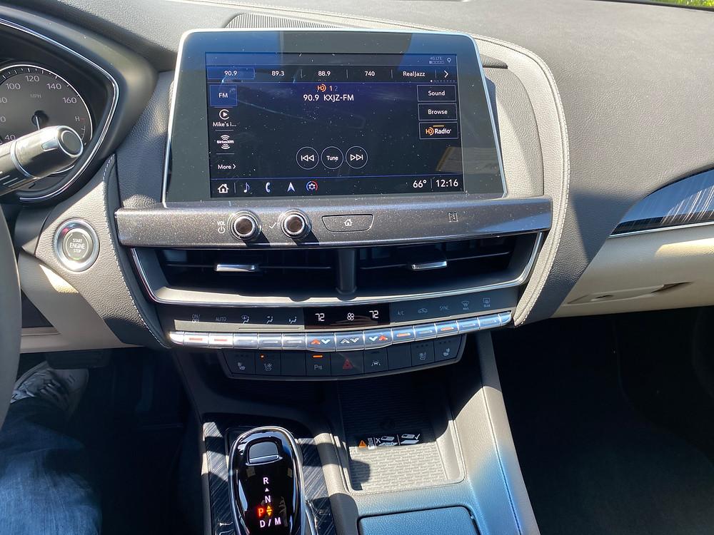 2021 Cadillac CT5 Premium Luxury infotainment and HVAC