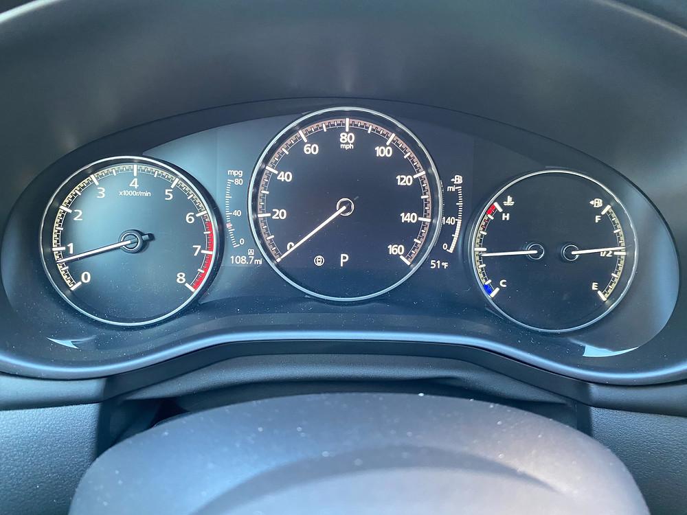 2021 Mazda 3 2.5 Turbo AWD gauge cluster