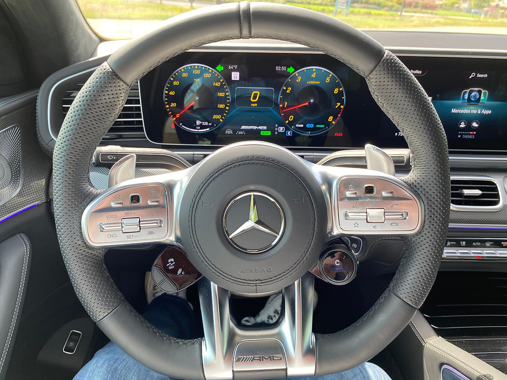 2021 Mercedes-AMG GLE 63 S Coupe steering wheel and gauge cluster