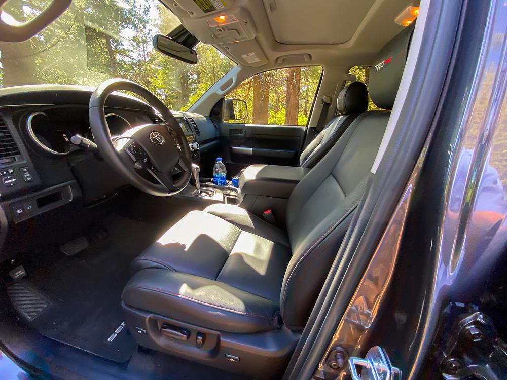 2020 Toyota Sequoia TRD PRO font seats