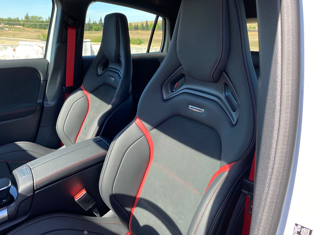 2021 Mercedes-AMG GLA45 4MATIC+ front seat detail