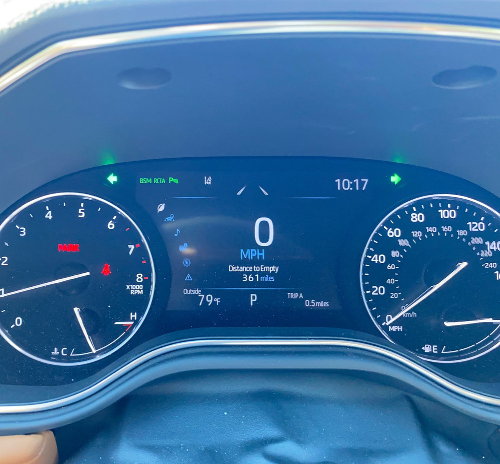 2021 Toyota Avalon Limited AWD gauge cluster