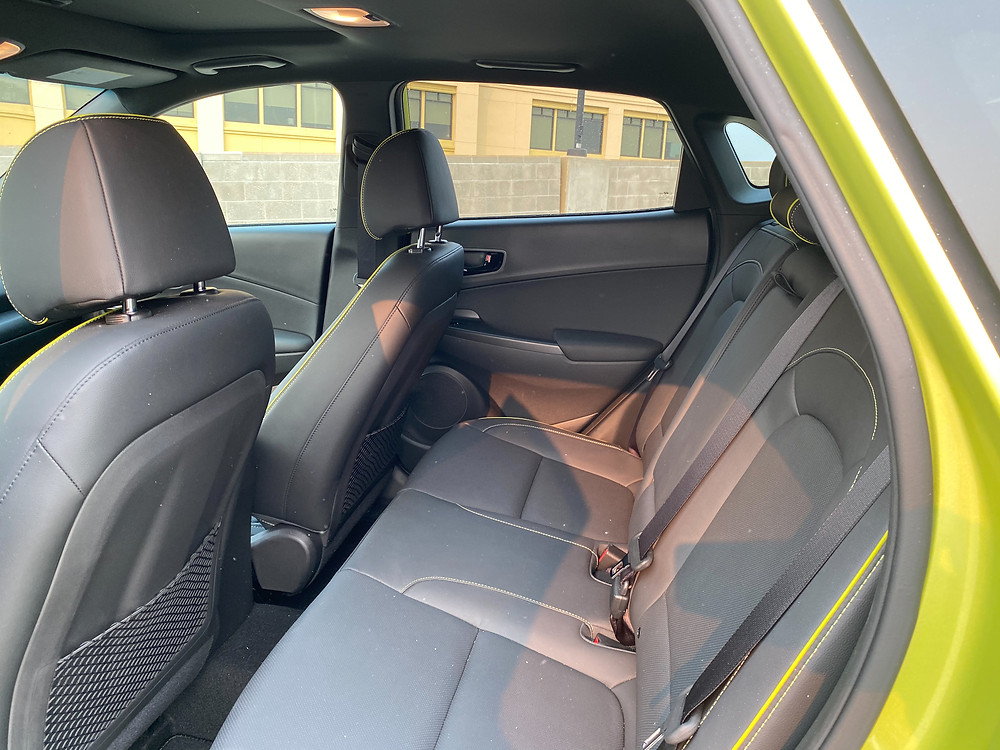 2020 Hyundai Kona Ultimate FWD rear seat