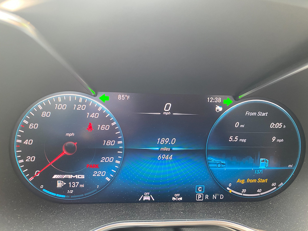 2020 Mercedes-AMG GT C gauge cluster