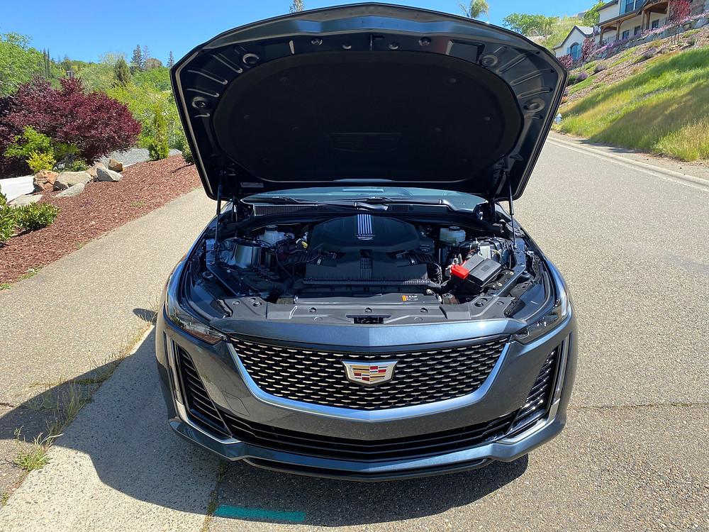 2021 Cadillac CT5 Premium Luxury hood up