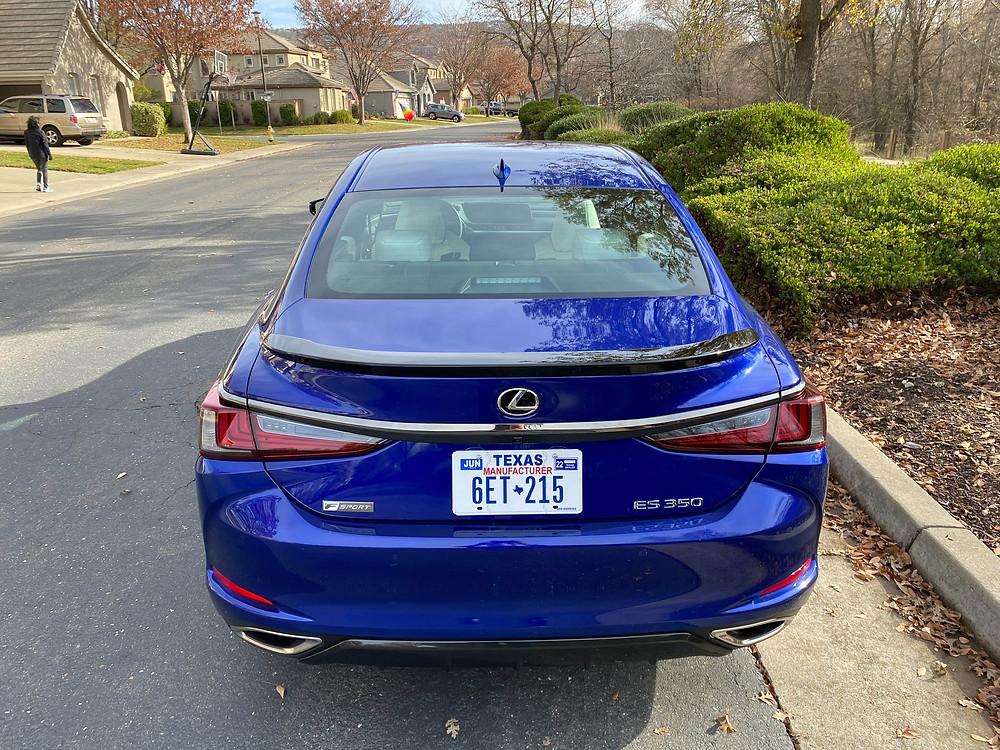 2021 Lexus ES350 F SPORT rear view