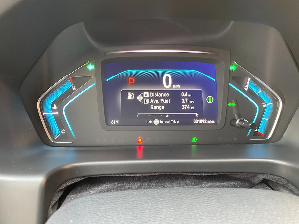 2021 Honda Odyssey Elite gauge cluster