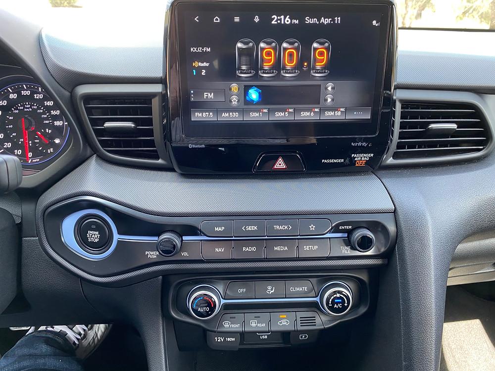 2021 Hyundai Veloster N infotainment and HVAC