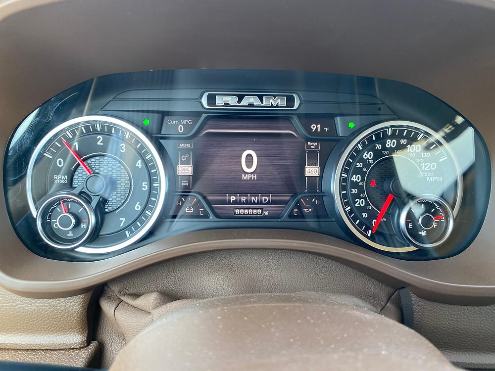 2021 RAM 1500 Laramie Crew Cab 4X4 gauge cluster