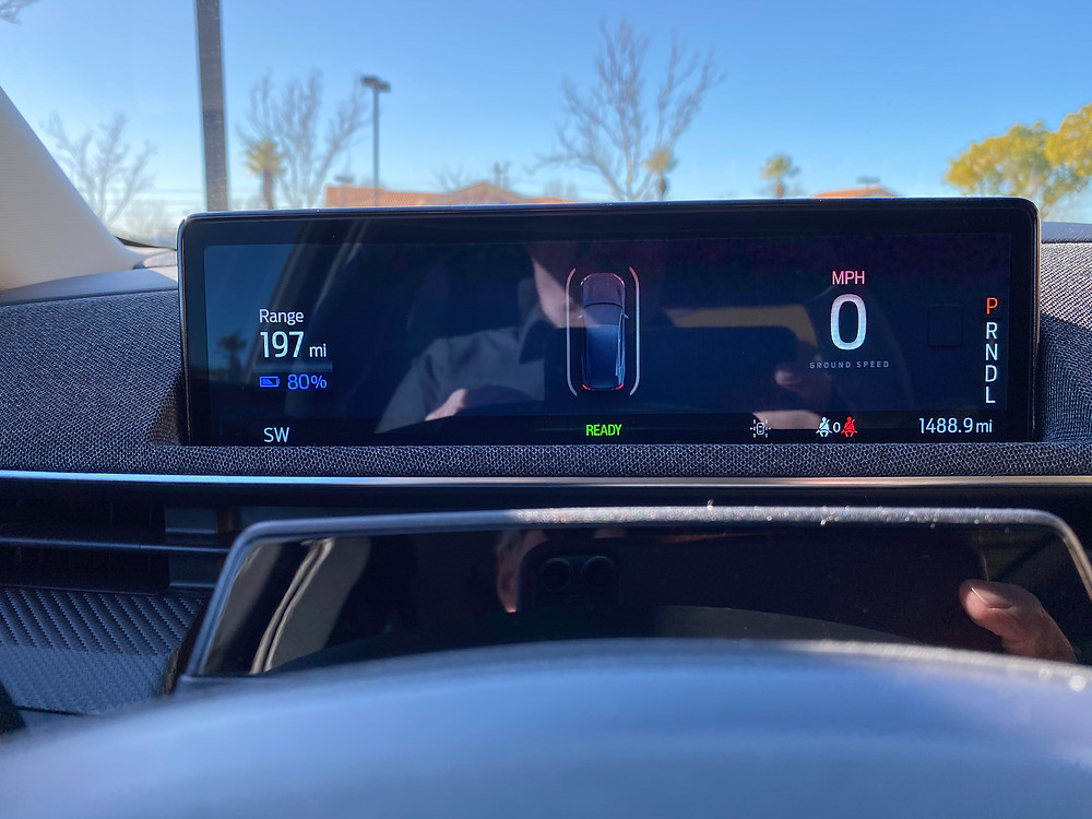 2021 Ford Mustang Mach-E gauge display