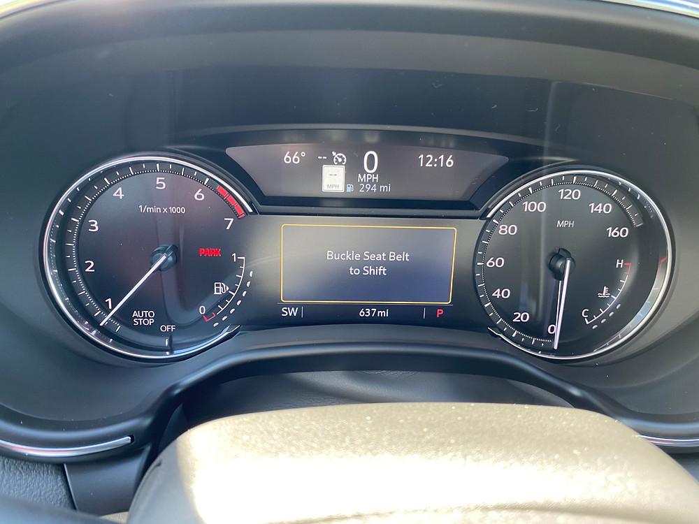2021 Cadillac CT5 Premium Luxury gauge cluster